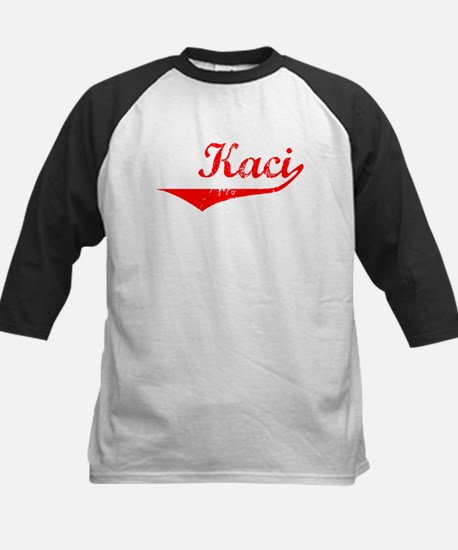 Kaci Vintage (Red) Kids Baseball Jersey