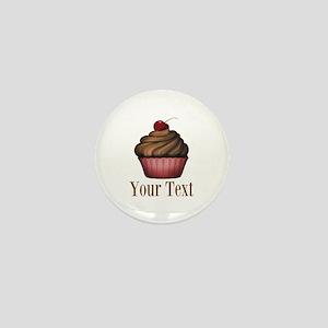 Cute Pink Cupcake Mini Button