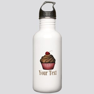 Cute Pink Cupcake Water Bottle