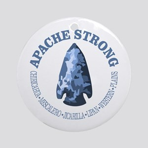 Apache Strong Round Ornament