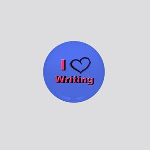 I Heart Writing Mini Button