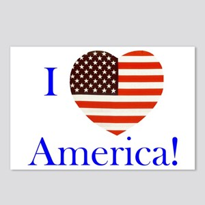 I Love America! Postcards (Package of 8)