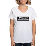 Prayer Works Women's V-Neck T-Shirt