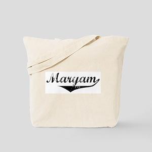 Maryam Vintage (Black) Tote Bag