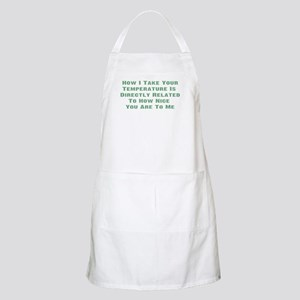 Nurse Temperature Humor BBQ Apron