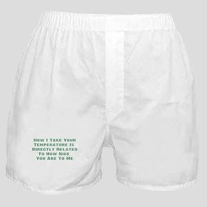 Nurse Temperature Humor Boxer Shorts