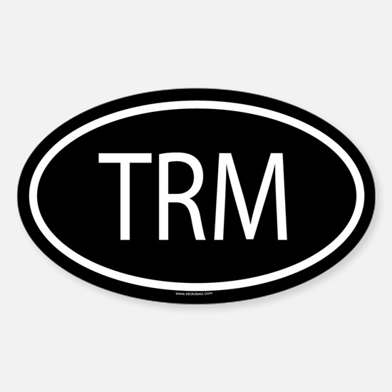 TRM Oval Decal