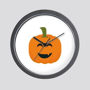 Funny Halloween pumpkin Wall Clock