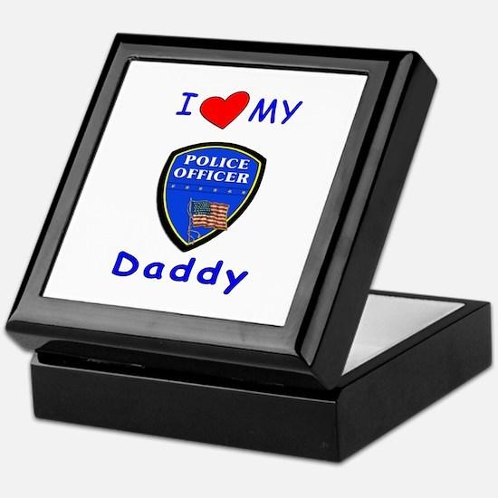 I Love Police Daddy Keepsake Box
