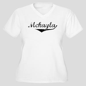 Mckayla Vintage (Black) Women's Plus Size V-Neck T
