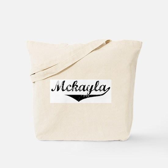 Mckayla Vintage (Black) Tote Bag