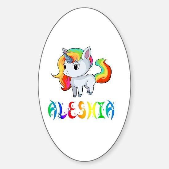 Aleshia Sticker (Oval)