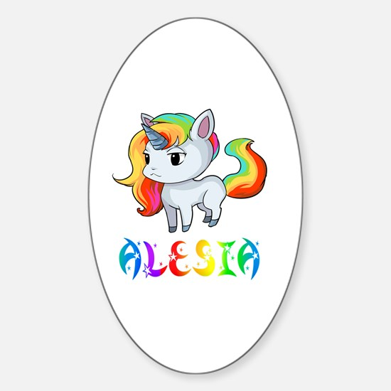 Cute Alesia Sticker (Oval)