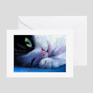 Tuxedo Cat 2 Greeting Cards