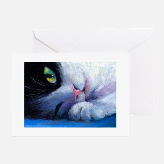 Tuxedo Cat 2 Greeting Cards