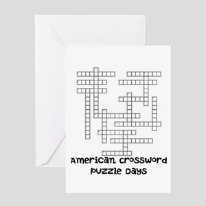 American Crossword Puzzle Days Greeting Cards