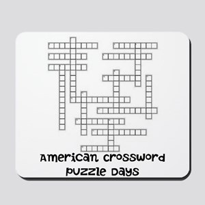 American Crossword Puzzle Days Mousepad