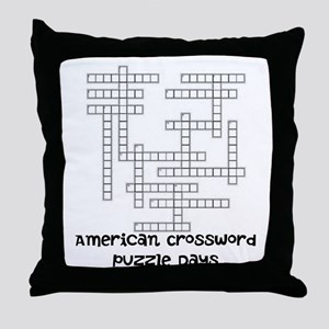 American Crossword Puzzle Days Throw Pillow