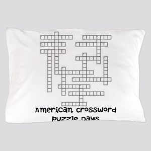 American Crossword Puzzle Days Pillow Case