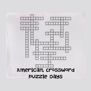 American Crossword Puzzle Days Throw Blanket
