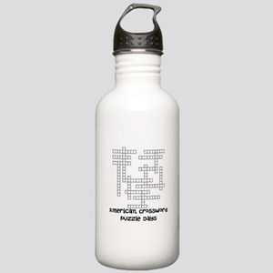 American Crossword Puzzle Days Water Bottle
