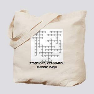 American Crossword Puzzle Days Tote Bag