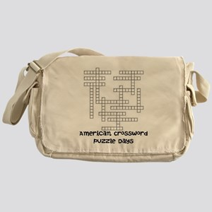 American Crossword Puzzle Days Messenger Bag