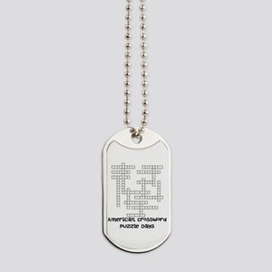American Crossword Puzzle Days Dog Tags