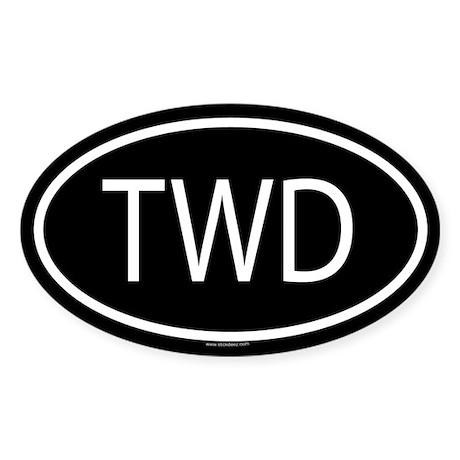 TWD Oval Sticker
