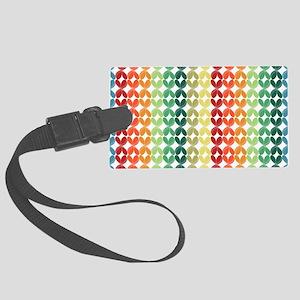 3D Rainbow Pattern Luggage Tag