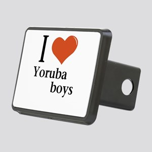 I love Yoruba boys Rectangular Hitch Cover