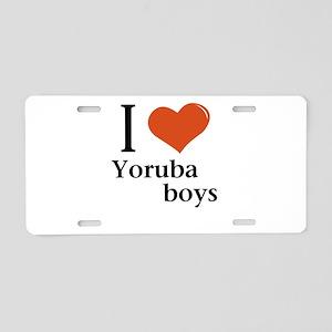I love Yoruba boys Aluminum License Plate