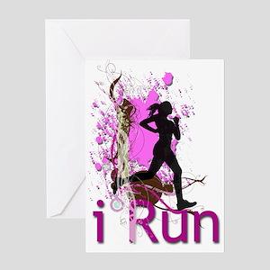 iRun Decorative Greeting Cards