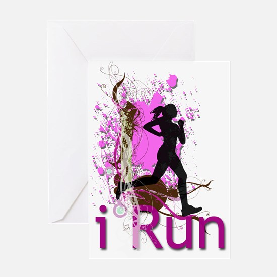 iRun Decorative Greeting Cards