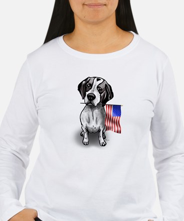 4th of July Pointer Long Sleeve T-Shirt