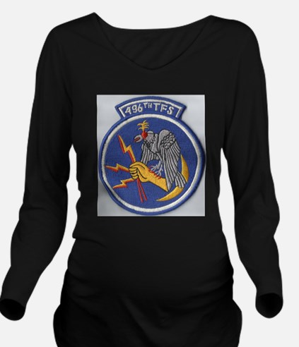 496th Tactical fight Long Sleeve Maternity T-Shirt