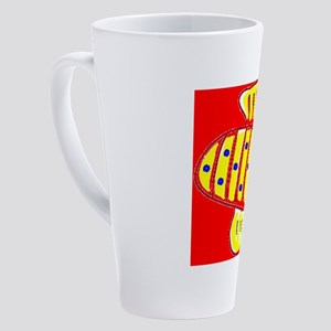Red Hilo Bee 4Halley 17 oz Latte Mug