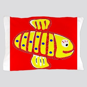 Red Hilo Bee 4Halley Pillow Case