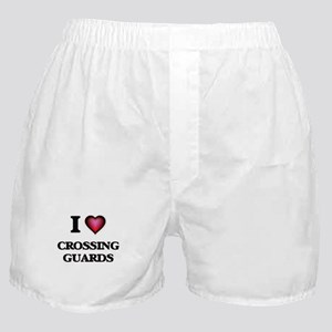 I love Crossing Guards Boxer Shorts