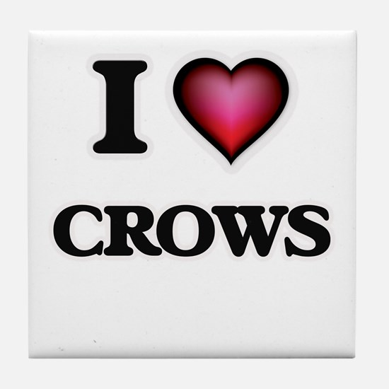 I love Crows Tile Coaster