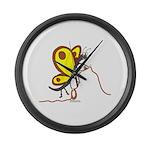 Alpine Butterfly Large Wall Clock