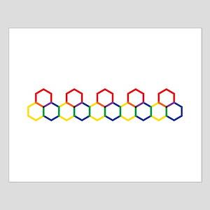 Hexagon Border Posters