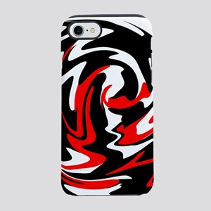 Abstract red color swirl iPhone 8/7 Tough Case
