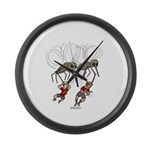 Mosquito Problem Large Wall Clock
