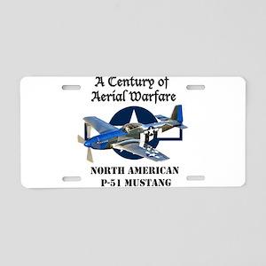 P-51 Mustang Aluminum License Plate
