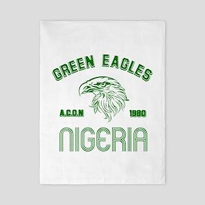 Green Eagles Nigeria Twin Duvet