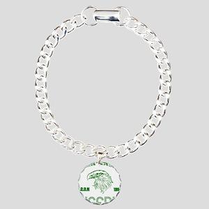 Green Eagles Nigeria Charm Bracelet, One Charm