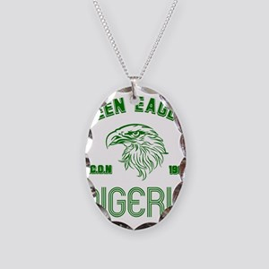 Green Eagles Nigeria Necklace Oval Charm