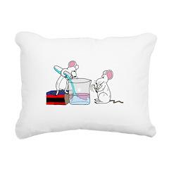 Lab Mice Rectangular Canvas Pillow