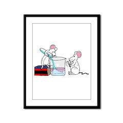 Lab Mice Framed Panel Print